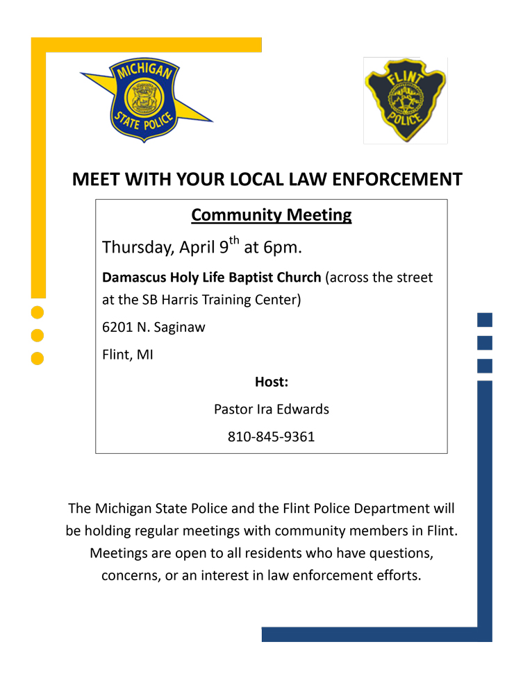 April 9 Community Meeting