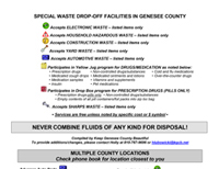 Special Waste Drop-Off Facilities in Genesee County