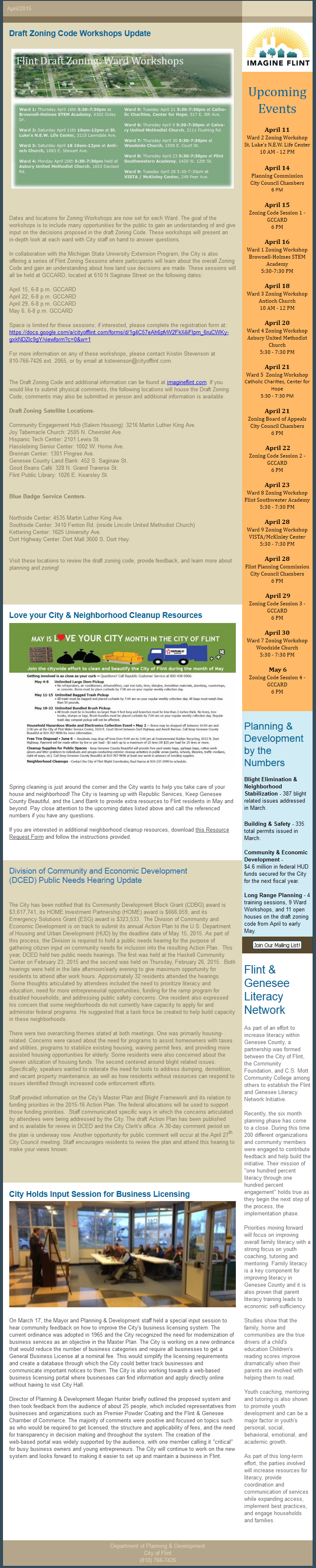 City of Flint Newsletter