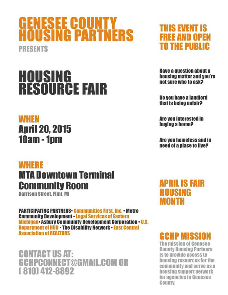 Genesee County Housing Partners Flyer