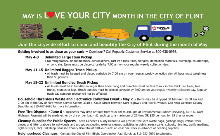May is Love Your City Month in the City of Flint