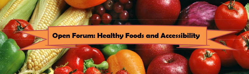 MTA Open Forum Healthy Foods and Access April 16th