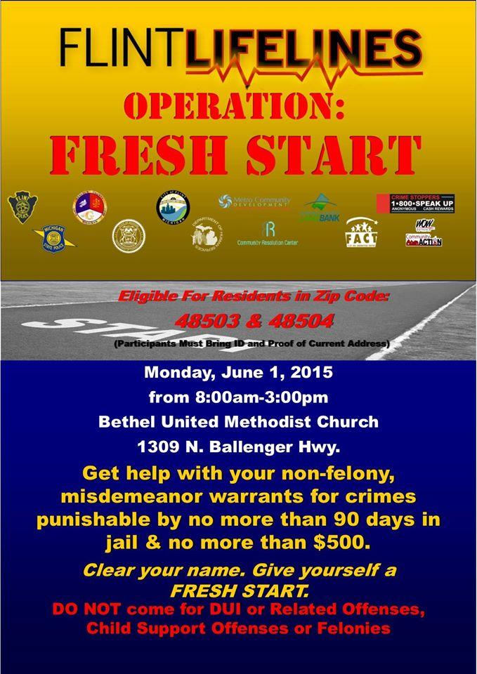 Operation Fresh Start - June