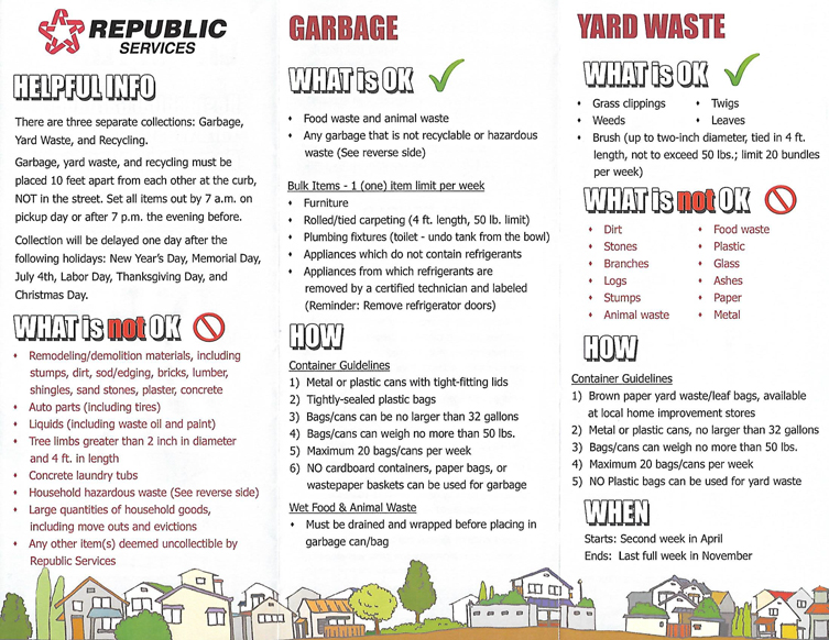 Republic Recycling Reminder