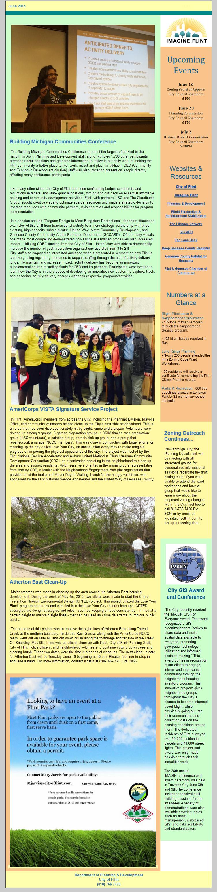 City of Flint Newsletter