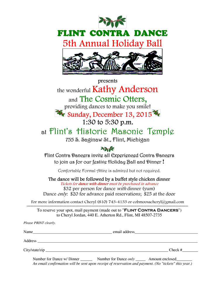 Holiday Ball Reservations being taken!
