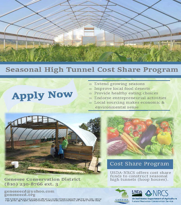 Seasonal High Tunnel Cost-share Funding Available