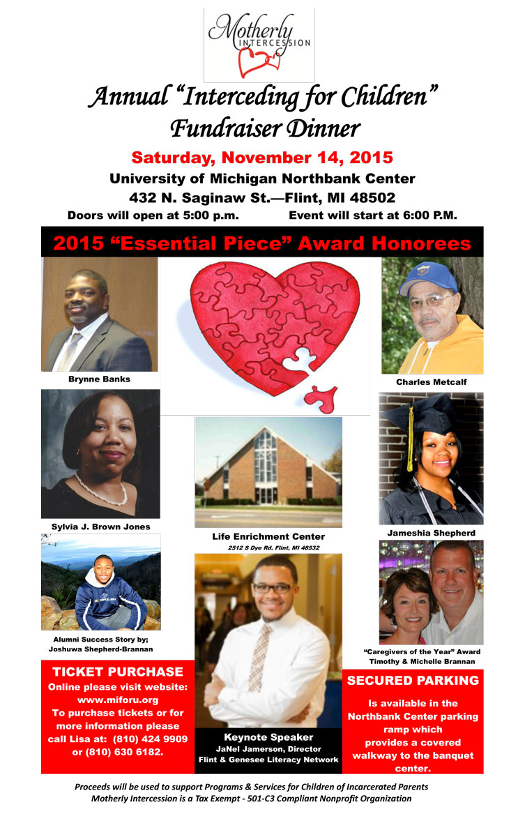 "Motherly Intercession Annual ""Interceding for Children"" Fundraiser Dinner"