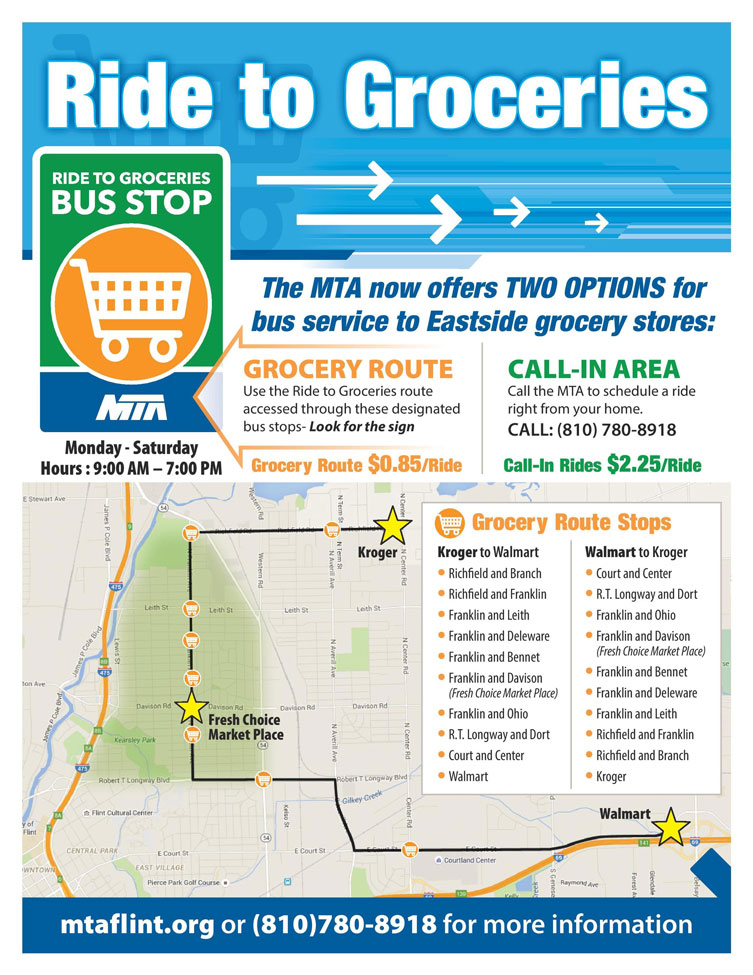 Rides for Groceries Flyer