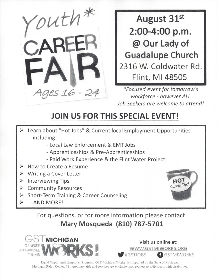 Youth Career Fair @ Our Lady of Guadalupe Church | Flint | Michigan | United States
