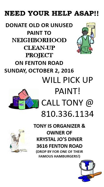 Fenton Road Clean Up effort