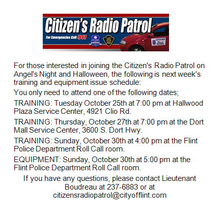 Citizen's Radio Patrol Halloween