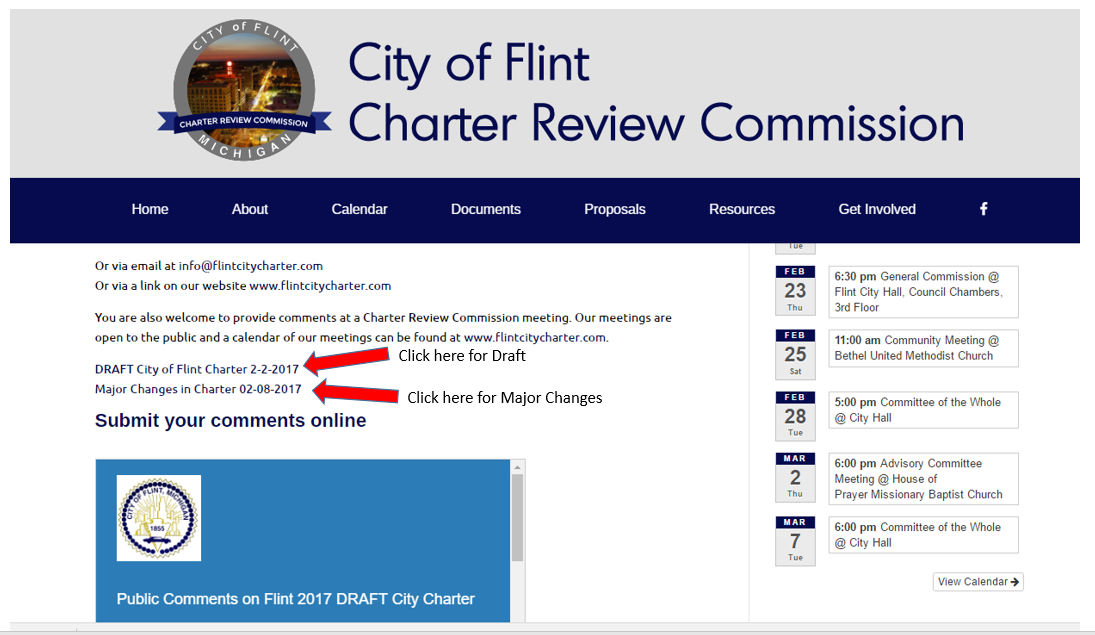 Charter Review Commission Community Meeting