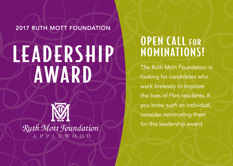 Call for nominations: Ruth Mott Foundation Leadership Award