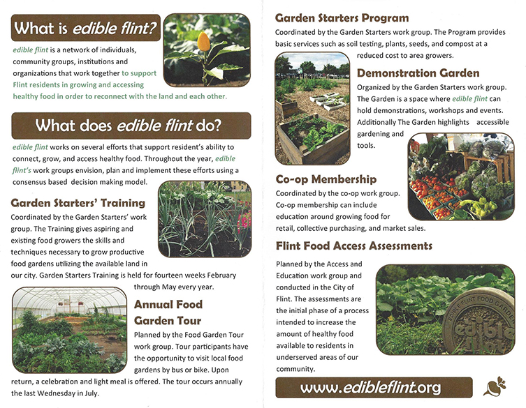 2017 edibleFlint Events and Flyer