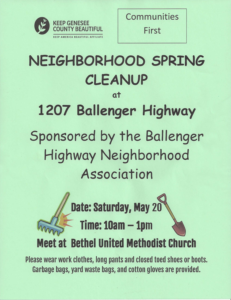 Neighborhood Spring Cleanup