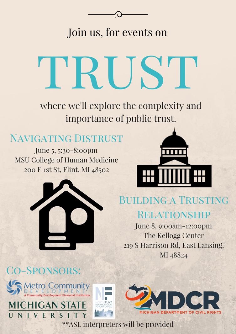 Navigating Distrust - A Conversation @ MSU College of Human Medicine | Flint | Michigan | United States