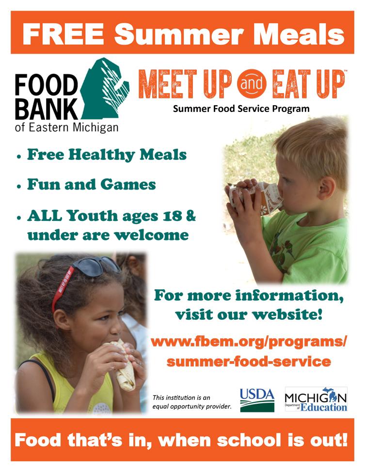 Free Summer Food Program for children