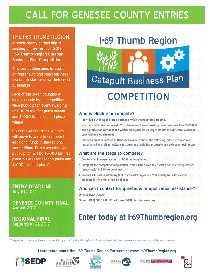 I-69 Thumb Region Catapult Business Plan Competition