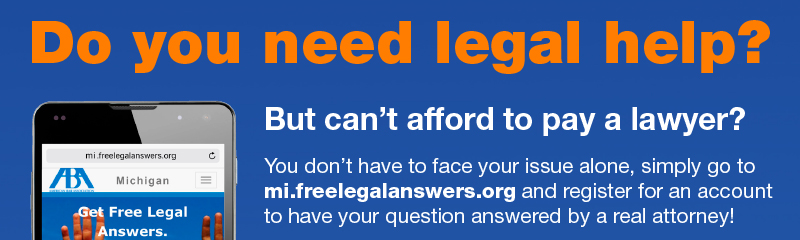 Free legal assistance for Genesee County Residents from the State Bar of Michigan