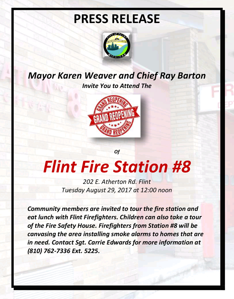 Grand Reopening of Flint Fire Station #8