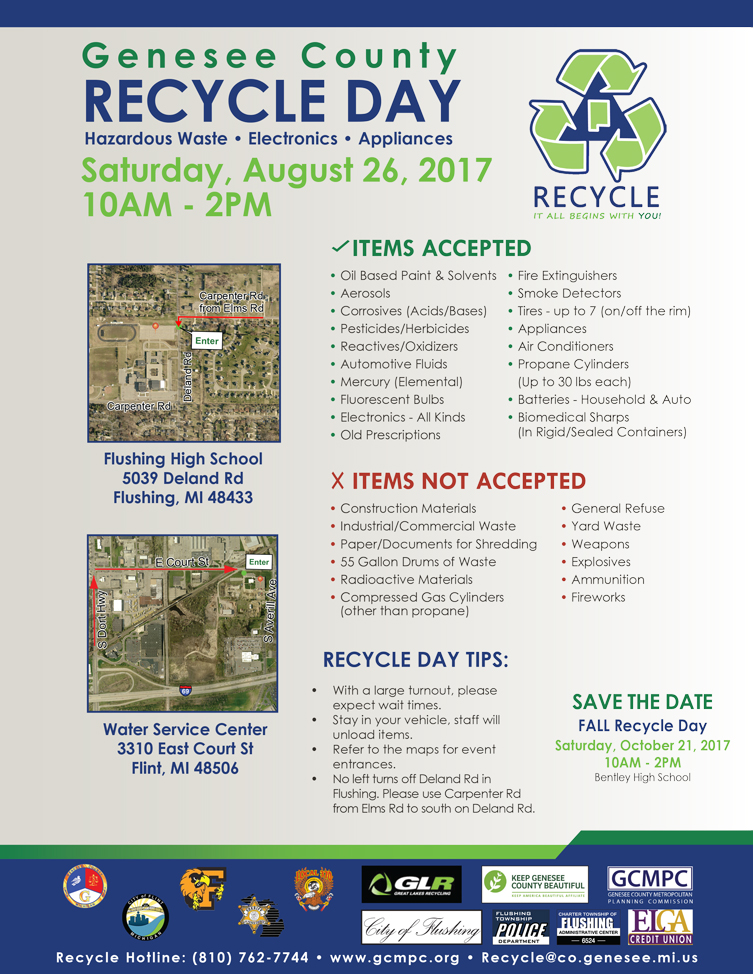 Summer Recycle Day @ Water Service Center | Flint | Michigan | United States