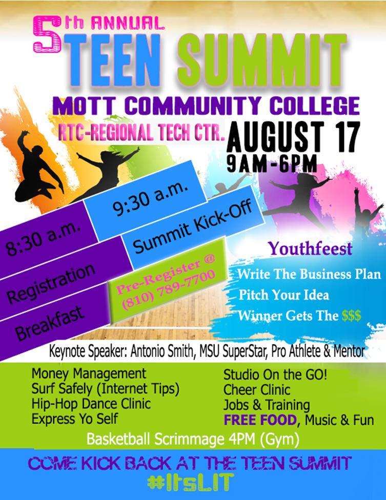 Teen Summit @ Mott Community College | Flint | Michigan | United States