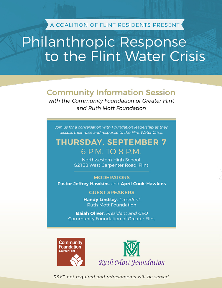 Philanthropic Response to the Flint Water Crisis: Community Information Session
