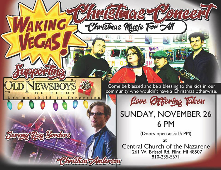 Waking Vegas Christmas Concert @ Central Church of the Nazarene | Flint | Michigan | United States
