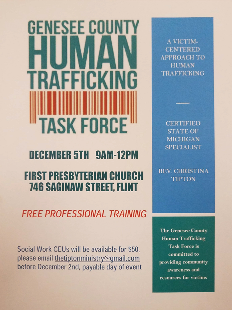 Genesee County Human Trafficking Task Force @ First Presbyterian Church | Flint | Michigan | United States