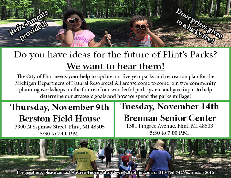 Flint Parks & Rec Five Year Plan - Planning Workshops