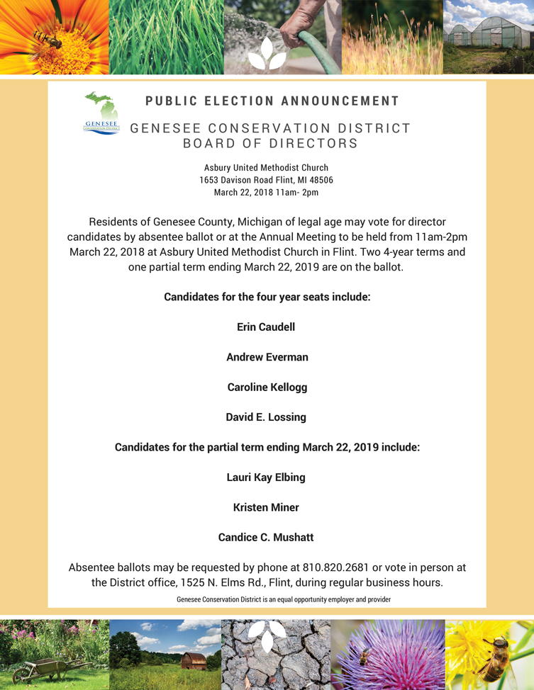 Genesee Conservation District director election notice