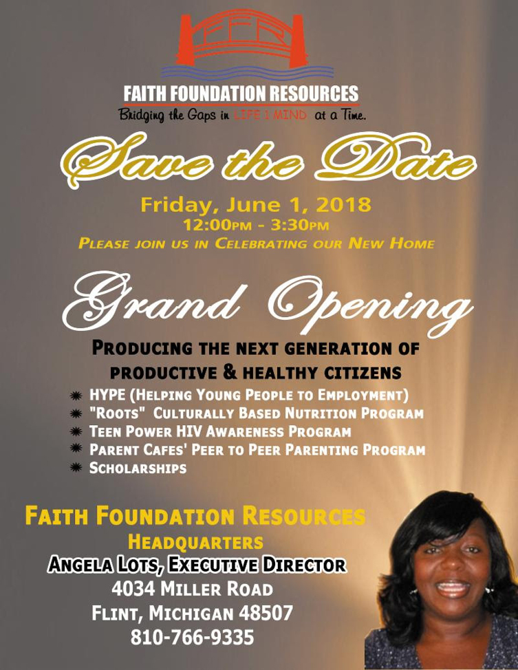 Faith Foundation Resources Grand Opening @ Faith Foundation Resources Headquarters | Flint | Michigan | United States