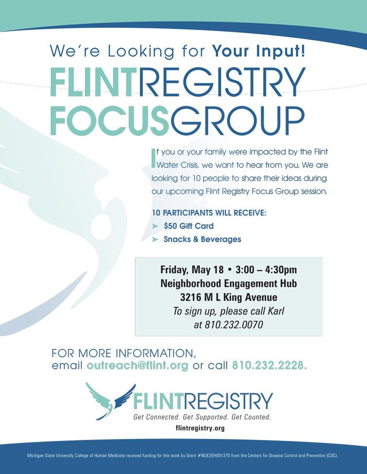 Flint Registry Focus Group @ Neighborhood Engagement Hub | Flint | Michigan | United States