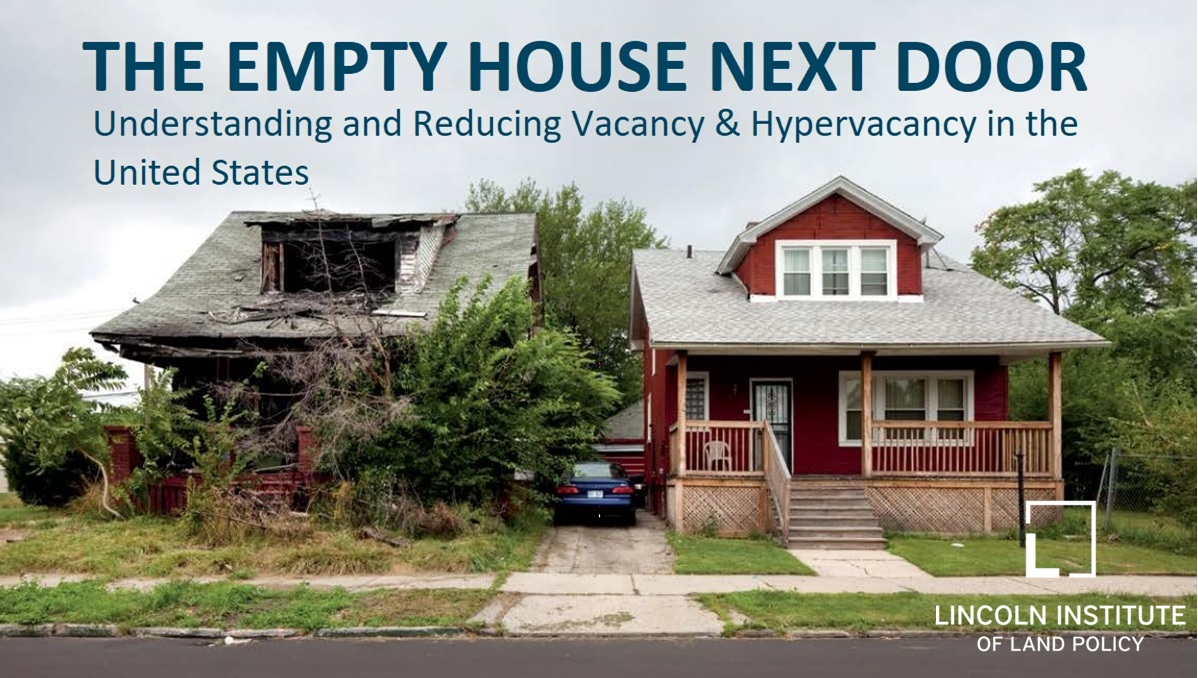 Webinar viewing of The Empty House Next Door: The State of Vacancy in the U.S. @ Neighborhood Engagement Hub | Flint | Michigan | United States