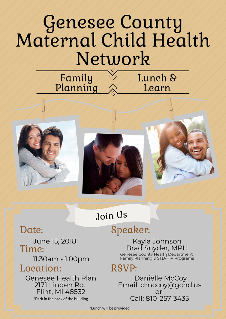 Family Planning Lunch & Learn Flyer