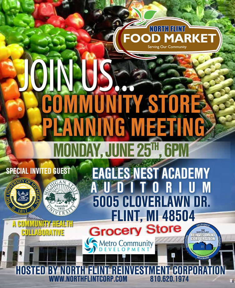 North Flint Food Market Monthly Planning Meeting @ Eagles Nest Academy Auditorium | Flint | Michigan | United States