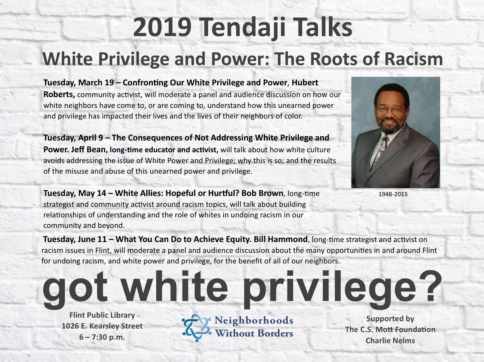 White Allies: Hopeful or Hurtful - Tendaji Talks @ Flint Public Library | Flint | Michigan | United States