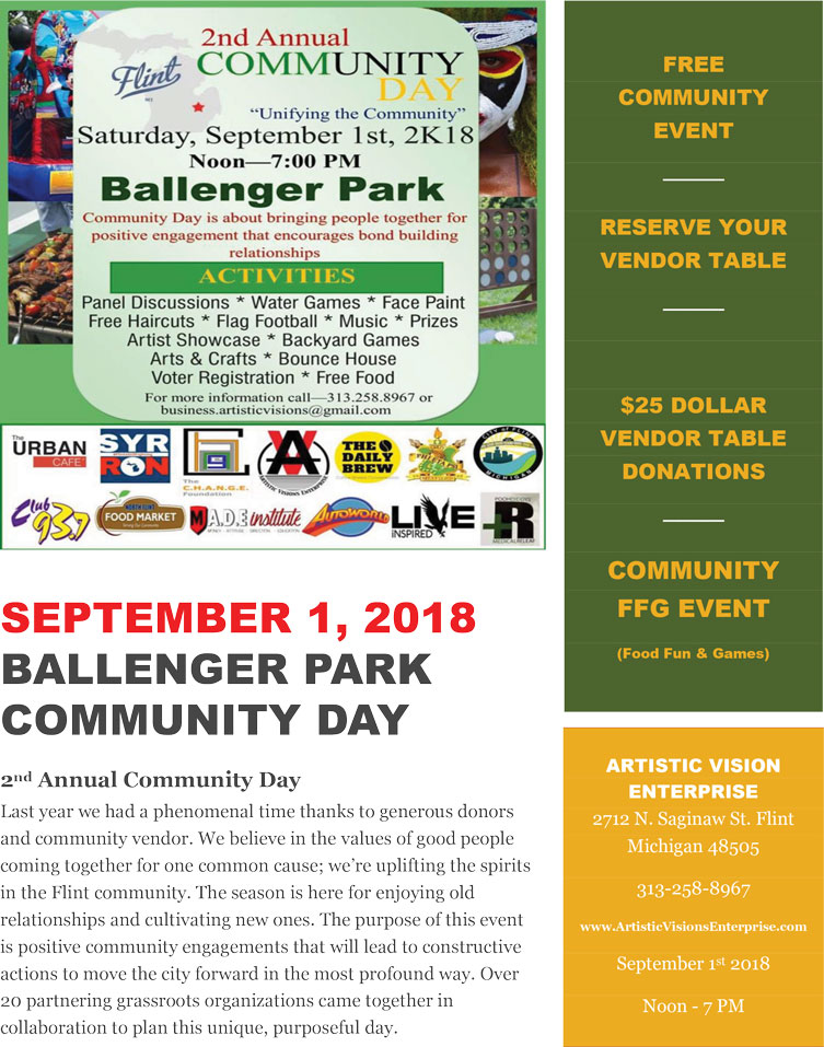 Ballenger Park Community Day 2018 @ Ballenger Park | Flint | Michigan | United States