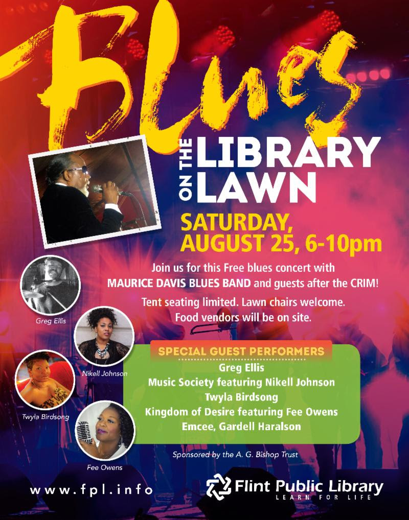 FREE Blues Concert @ Flint Public Library | Flint | Michigan | United States