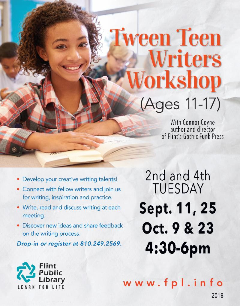 Tween Teen Writers Workshop @ Flint Public Library | Flint | Michigan | United States