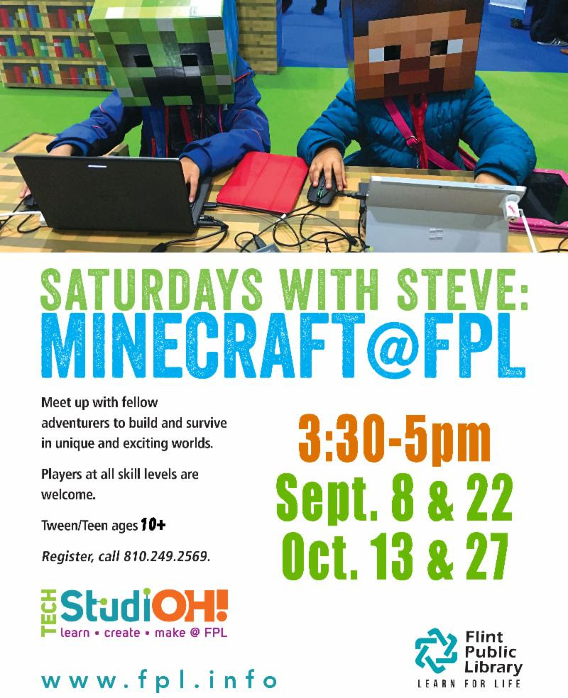 Minecraft @ FPL @ Flint Public Library | Flint | Michigan | United States
