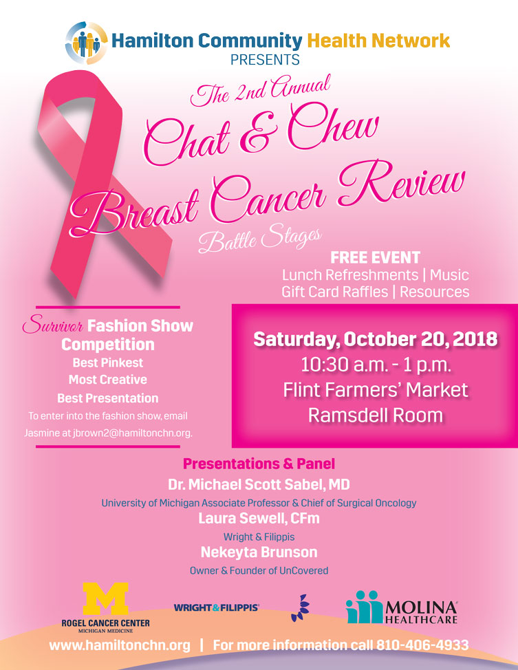 Chat & Chew Breast Cancer Review @ Flint Farmers Market - Ramsdell Room | Flint | Michigan | United States