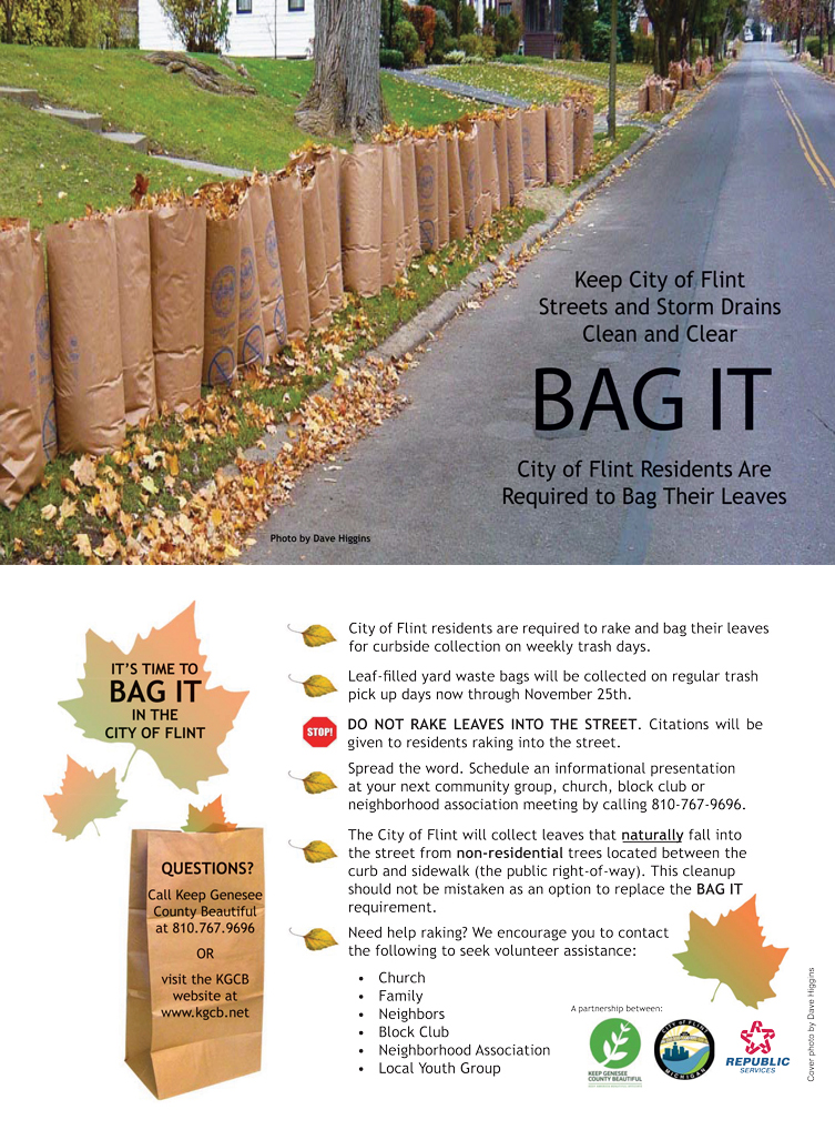 Last Week of Yard Waste / Leaf Bag Pickup