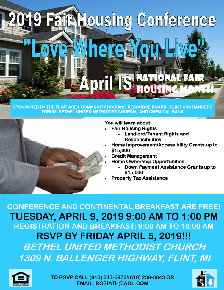 2019 Fair Housing Conference @ Bethel United Methodist Church