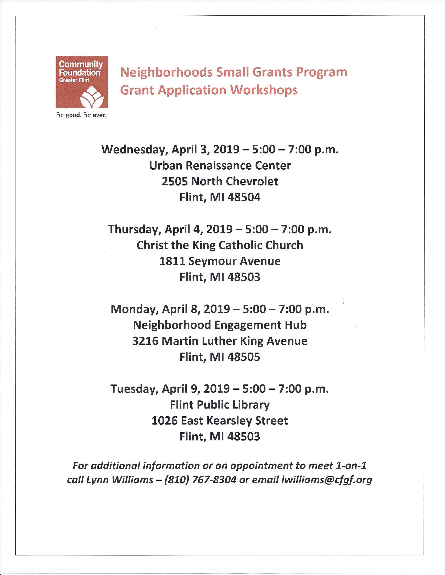 Community Foundation Grants Workshop