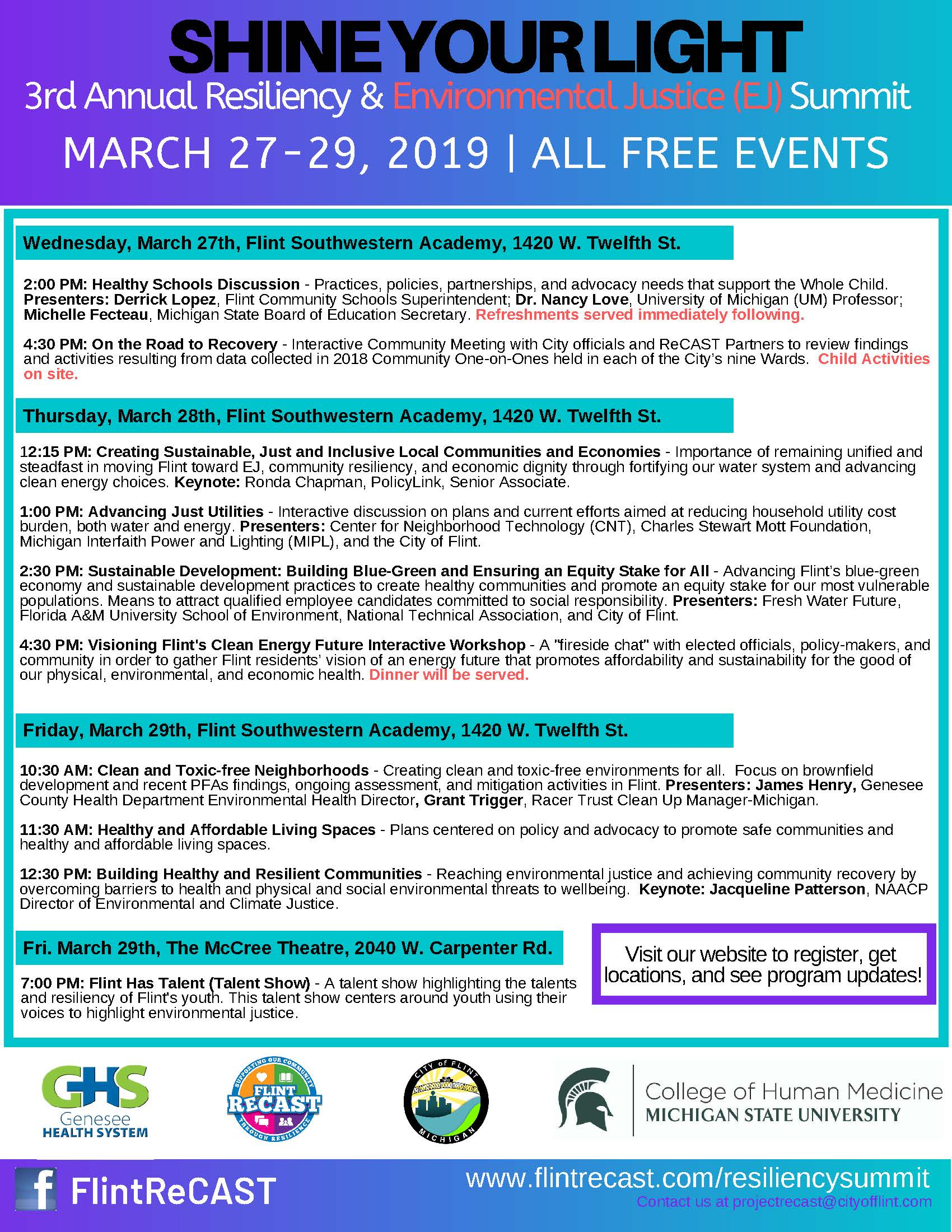 3rd Annual Flint Resiliency & Environmental Justice Summit