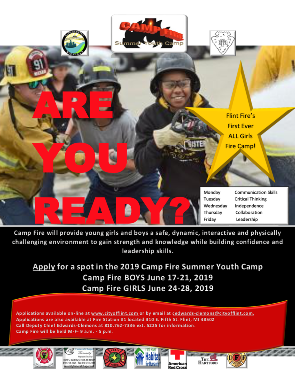 NEWS RELEASE: City of Flint Fire Department to Offer Summer Camp for Youth