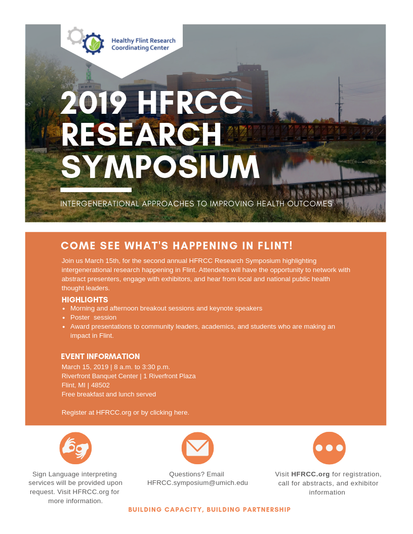 2nd Annual HFRCC Research Symposium @ Riverfront Banquet Center