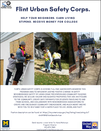 Join Flint Urban Safety Corps!